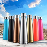 Wholesale coke cars for sale - Group buy 450ml Cola Pyramid Shaped Vacuum water bottle Double Walled Stainless Steel Insulated Travel Bottles coke Outdoor Car Cup Colors LJJ_A719