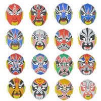 Wholesale chinese faces cartoon for sale - Group buy 100pc Chinese style peking opera face gypsum mask beijing opera mask male cm g H50