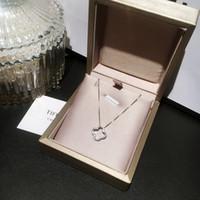 Wholesale leaf chains resale online - Fashion Designer Real Sterling Silver Leaf Shape Pendant Sweet Women Necklace