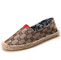 sapatos femininos da primavera venda por atacado-Novo 2019 Sapatos de pescador das mulheres único sapatos Primavera Verão Mocassins Sapatilhas de Lona de Cânhamo Respirável Apartamentos Flats Sapatos Casuais Alpercatas