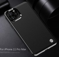 Wholesale max line online – New Phone Case Stripe Line Brushed Carbon Fiber Bump Shockproof For iPhone Pro Max Samsung S10 s9