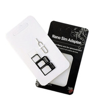Nano & Micro SIM Card Adapter Kit Converter with Removal Tool Set For iPhone6 Plus All Mobile Devices S10