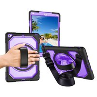 Wholesale blue tablet pc for sale - Group buy For Ipad Air Case Three Layer Shockproof Full Body Rugged Hard PC Soft Silicone Tablet protection Case for Ipad Pro