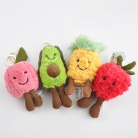 Wholesale new style car keys resale online - New Styles Fruit Series Plush Doll cm Fruit Key Ring Action Figures Toys Car Pendant Home Decoration Plush Doll L225