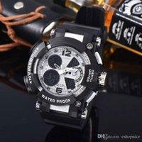 modern saat markaları toptan satış-Lüks Erkekler Üst Marka Spor Kol G Askeri Moda Modern Su Geçirmez Izle Erkek Dijital Toptan Saatler Relogio Masculino Relojes