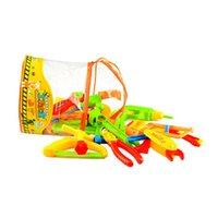 tornillos de juguete para niños al por mayor-Herramientas de reparación para niños Juguetes Juego de herramientas de reparación de simulación Juego de imaginación Juego Llave de martillo Martillo Herramientas de tornillos Juego de juguete para niños