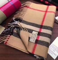 ingrosso sciarpa lunga del plaid-Sciarpa per le donne Designer Sciarpa moda marca Sciarpa Sciarpe 100% cashmere Per donna e uomo invernali Confezioni lunghe Dimensioni 180x30cm senza scatola