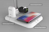 Hot selling 4 IN 1 APPLE MATE wireless charger for AirPods and for iWatch and for iphone ,wireless charge reading lamp