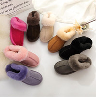 Wholesale home slippers women warm for sale - Group buy Fur Slippers Colors Winter Women Warm Indoor Slippers Soft Leather Boot Wool Lady Home Shoes pairs OOA6065