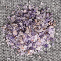 ametist ışıkları toptan satış-100 Gram Doğal Işık Ametist Taş Mineral ezilmiş taş Eskitme taş Ev Çeşme Dekor Şifa Reiki