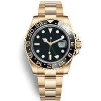 verstellbare lünette großhandel-Neue GMT Keramik Lünette Schwarz Uhren Männer Mechanische Automatische Bewegung Einstellbare Armbanduhr Designer Glide Lock Strap Armbanduhr Uhren