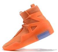 ingrosso b ossa-Mens 2019 Fear Of God Light Bone Black orange Designer Sport Uomo Sneakers Fashion Fog Cushion Boots Zoom Baskets Scarpe per scarpe