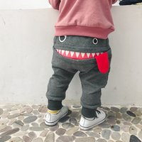 Wholesale baby girls clothing sale resale online - 2019 Hot Sale Toddler Baby Boy Baby Children Kids Boys Girls Cartoon Shark Tongue Harem Pants baby boy clothes vestido