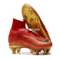 ingrosso tacchetti da calcio-2019 Chaussures nike Mercurial Superfly VI 360 Elite SG Fly Knit Bambini Mens Calcio Tacchetti Cr7 chaussures Crampons de football botas de fútbol  soccer cleats Eur 39-45