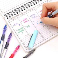 Wholesale korean highlighters resale online - 1pcs Durable Highlighter Pen Creative Ink Pen Marker For Kids Students Gift Novelty Item Korean Stationery School Supply