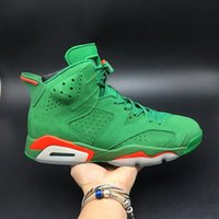 Wholesale shoes like boots for sale - Group buy Gatorade Like Mike AJ5986 Green Suede s VI Women Men Sports Shoes Sneakers Best Quality Trainers With Original Box