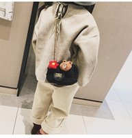 bolsitas pequeñas bolsitas al por mayor-Bolso de los niños lindos de la historieta 2018 nueva versión coreana de la bolsa de mensajero del hombro de la muchacha moda de la cadena de la felpa pequeña bolsita