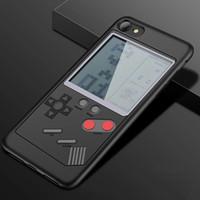 meninos casos de telefone venda por atacado-Gameboy case para iphone 7 à prova de choque tpu retro tetris game boy phone case para iphone x 6 s 8 plus com bateria