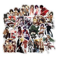 Wholesale japan stickers car online - 39PCS Japan Attack on Titan Sticker Anime Icon Animal Stickers Gifts for Children to Laptop Suitcas Bicycle Car DIY PVC Stickers