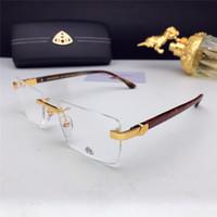 Wholesale car hinging for sale - Group buy Fashion car brand MAYBACH formula glasses Z102 frameless frame optical glasses transparent lens simple business style suitable for men