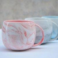tazas de café de cerámica de estilo europeo al por mayor-Venta al por mayor Classic Ceramic Creative Couple Cup Drink Cup Marbled Coffee Milk Mug European Style Water Bottle Tea Cup with Handle