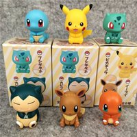 Wholesale home blind for sale - Group buy 3cm inches Pikachu Charmander Blind Box Multi function clips styles pieces per set LA35