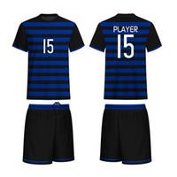jersey de poliéster de ajuste seco al por mayor-Combinación exterior Appare de calidad superior de color uniforme de manga corta en seco Fit poliéster Fútbol Soccer Jersey