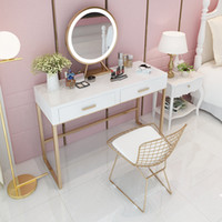 Home Dressers Multifunctional Dressing Table Ins Girls Bedroom Dressing Table and Chairs Creative Solid Wood Dressing Table