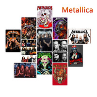 Wholesale paint metal art resale online - Rock Band Tin Signs metal Vintage Posters Old Wall Metal Plaque Club Wall Home art metal Painting Wall Decor Art Picture party decor FFA2804