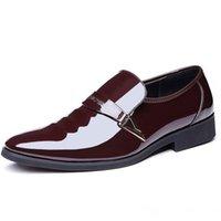 italya elbise ayakkabıları toptan satış-Erkekler Lüks Elbise Ayakkabı Rugan Oxford Erkek Ayakkabı İtalya Beyaz Derby Örgün Erkek Flats Bırak Nefes Erkekler Formal Ayakkabı