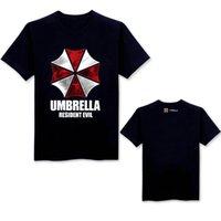 ingrosso maniche di ombrello-Umbrella Resident Evil Movie Maglietta da uomo stampata in 3D T-shirt Hip Hop T-shirt a manica corta