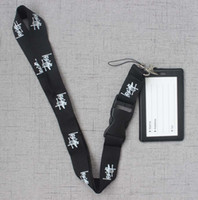 Wholesale apple companies resale online - ID Holders Case PU Business Badge Card Holder with Necklace Lanyard LOGO print company office supplies