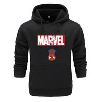 súper sudaderas al por mayor-Nuevo otoño Spiderman sudaderas hombres alta calidad MARVEL impresión de letras superhéroe moda para hombre sudaderas con capucha para hombre