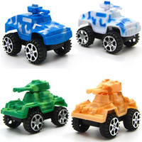 Wholesale cars puzzles for sale - Group buy Pull Back Military Vehicle Model Kids Plastic Multi Color Hot Wheels Toys Children Mini Puzzle Toys White Yellow Green Color wp E1