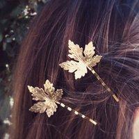 yeni saç şekiller plakaları toptan satış-Saç Klipler Tokalarım Vintage Moda Kadınlar Bohemia Stil Marka Yeni Altın Gümüş Kaplama Alaşım Yapraklar Saç Takı Toptan LHR009