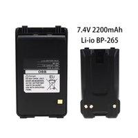 ersatz für lithium-ionen-batterien großhandel-2200mAh BP-265 Batteriewechsel 7.4V Lithium-Ionen-Batterie erweitert für -T70A / IC-T70E FM-Transceiver Walkie Talkie