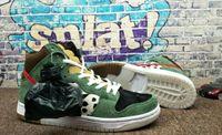 ingrosso i migliori escursionisti-2019 Best New SB Dunk High Dog Walker scarpe da basket di buona qualità per uomo nero verde scarpe da ginnastica progettista di marca sport sneakers TAGLIA 40-46