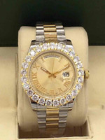 oval de jade venda por atacado-2019 relógios homens Day-Date Red face diamante relógio homens automático safira 18 K fecho original Mecânica WristWatche 886