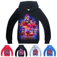 Wholesale boy hoodie star sleeves online – oversize Brawl Stars kids hoodies Spring and Autumn t Kids Boys Girls Long Sleeve Hoodies Sweatshirts cm kids designer clothes ASS335