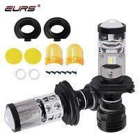 Wholesale projector headlight kits for sale - Group buy H4 LED Bulb with Mini Projector Lens H4 LED Conversion Kit LM Automobiles Hi Lo Beam Headlight Bulbs V V K White