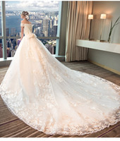 Wholesale pregnant brides wedding dresses for sale - Group buy Wedding dress new European court one word shoulder large code show thin pregnant woman bride princess