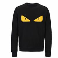 sarı erkek kazak toptan satış-Erkek Tasarımcı Hoodie Kazak Erkekler Kadın Triko Hoodie Moda Uzun Kollu Sarı Göz Kazak Kapüşonlular Streetwear Sweatershirt yazdır