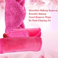 Wholesale 5 Colors Reusable Microfiber Women Facial Cloth Makeup Remover Reusable Towel Remover Wipes Cleaning Wash Towel