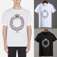 güzel taç toptan satış-Moda Tasarım Taç T-Shirt Güzel Kalite 3D Baskılı Harfler S / S Üst erkek T-Shirt Için Giymek