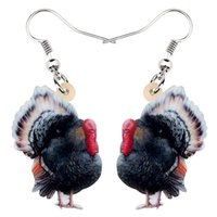 peru de jóias venda por atacado-Acrílico Natal Turquia da galinha Earrins Gota Dangle Farm Jóia para mulheres meninas adolescentes Hot Sale encanto do presente do partido
