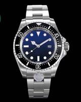 водонепроницаемые часы оптовых-Роскошные мужские часы с керамической рамкой SEA-Dweller 126660 Водонепроницаемый 300 м сапфировая сталь Stanless с застежкой Glide Автоматические механические часы