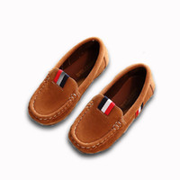 Wholesale moccasin kids for sale - Group buy New Spring Boys Children Shoes Kids Boys PU Leather Shoes Kids Moccasin Loafers Toddlers Casual Single Flats Sneakers C301