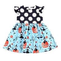 vestido branco preto pontos crianças venda por atacado-Crianças Bebés Meninas Vestido Preto Noir Branco Dot Baby Girl Vestido De Festa De Aniversário Verão.