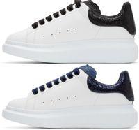 fluoreszierende turnschuhe großhandel-Designer Männer Frauen Sneaker Freizeitschuhe Mode Smart Plattform Trainer Leuchtende Fluoreszierende Schuh Snake Back Leder