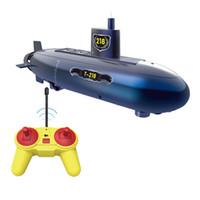mini submarinos de control remoto al por mayor-Divertido RC Mini Submarino 6 canales de Control Remoto Bajo el Agua Barco RC Barco Modelo Niños Regalo Educativo Tallo Juguete Para Niños
